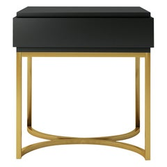 Isabella Costantini, Italy, Damiano Nightstand with Brushed Brass Base