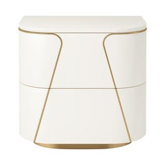 Isabella Costantini, Italy, Gemma Nightstand with Two Drawers
