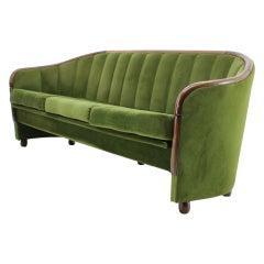 Italian 3-Seat Sofa in the Style of Gio Ponti, 1950s
