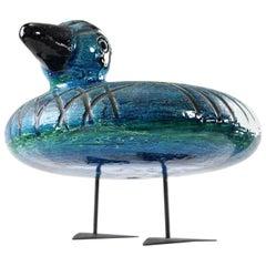 Italian Ceramic Rimini Blue Collection Duck by Aldo Londi Bitossi