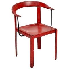 Italian Memphis Group Leather Chair