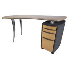 Italian Mid-Century Boomerang Top Desk