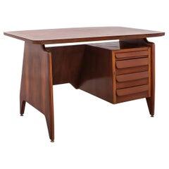 Italian Midcentury Mahogany Writing Desk by Vittorio Dassi, 1950s