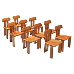 Italian Set of Ten Dining Chairs by Sapporo, 1970s