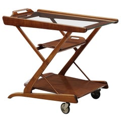 Italian Trolley in Wood, 1960s