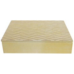 Ivory and Brown Shagreen Box