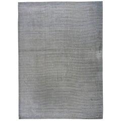 Ivory and Slate Stripe Area Rug