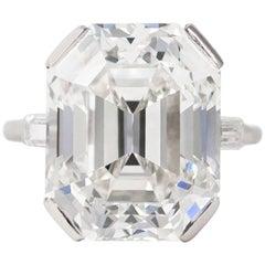 J. Birnbach GIA Certified 13.24 Carat Emerald Cut Diamond Ring