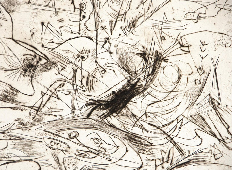 Untitled - Beige Abstract Print by Jackson Pollock