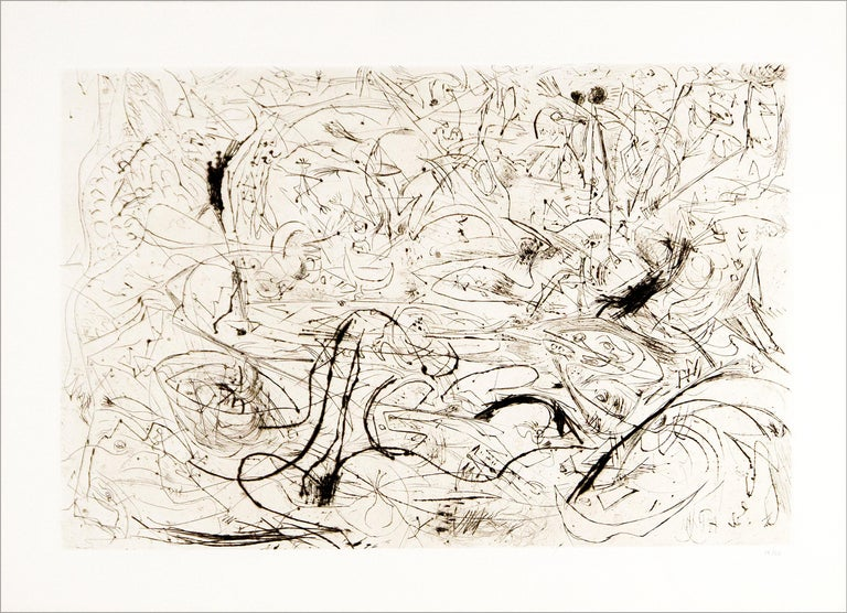 Jackson Pollock Abstract Print - Untitled