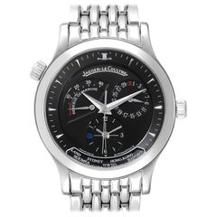 Jaeger Lecoultre Master Geographic Steel Men's Watch 142.8.92.S Q1428170