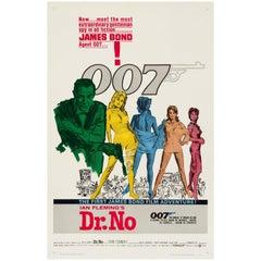 James Bond 'Dr. No' Original Vintage US One Sheet Movie Poster, 1962