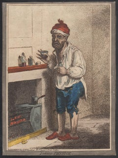 Taking Physick, English medical caricature etching by James Gillray, 1800