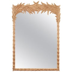 Jan Showers Santa Monica Mirror with Feather Border for CuratedKravet