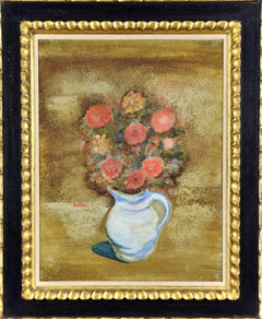 Still Life of Flowers by JANKEL ADLER - Modern Figurative Art, Floral Paintings