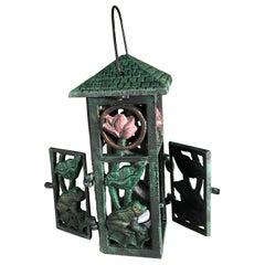 "Japanese ""Frog & Lotus"" Garden Lantern with Double Doors"