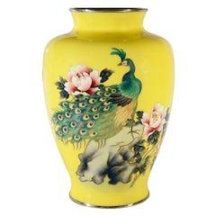 Japanese Cloisonné Enamel Vase, circa 1930-1950