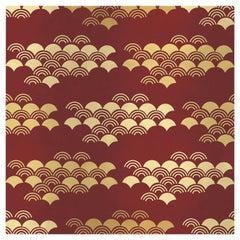 Japanese Pattern Red Panel