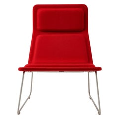 Jasper Morrison Low Pad Armchair in Beech with Fabric or Leather for Cappellini