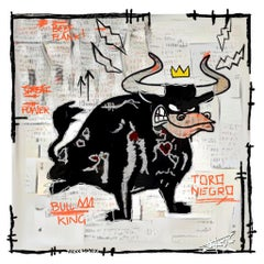 Torro Negro, Painting, Pop Art, Street Art, Black bull