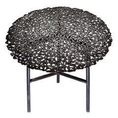 Jean Blackened Bronze Lost Wax Cast Butterfly Indoor or Outdoor Side Table