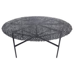 Jean Blackened Bronze Lost Wax Cast Butterfly Indoor or Outdoor Dining Table