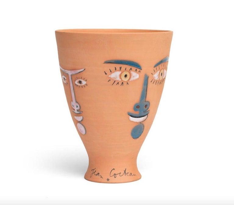 Art Deco Jean Cocteau Original Edition Ceramic Vase