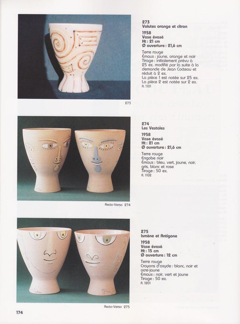 Mid-20th Century Jean Cocteau Original Edition Ceramic Vase