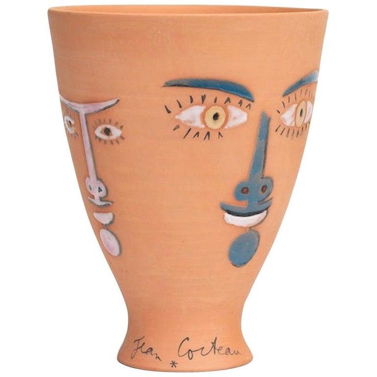 """Jean Cocteau Original Edition Ceramic Vase """"Les Vestales"""", 1958 For Sale"""