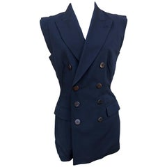 Jean Paul Gaultier 1980's Sleeveless Tuxedo Jacket