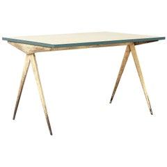Jean Prouvé, Cafétéria N°512 Table, a.k.a 'Compas' Table, 1953