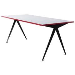 Jean Prouvé, Cafétéria n°512 table, a.k.a 'Compas' Table, circa 1950
