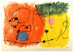 Le Lézard aux Plumes d'Or - Original Lithograph by Joan Mirò - 1971