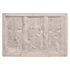 John Henning Rare Six Plaster Plaques Cast in Relief After Raphael