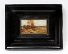 Antique American J.J. Enneking Impressionist Landscape Gorgeous Antique Frame