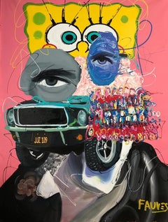 """Breaking Good"" mixed media painting 70x54 inch by John Paul Fauves"