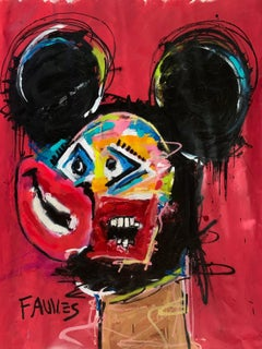 """In That Place"" Mixed media Painting 53.5"" x 43"" inch by John Paul Fauves"