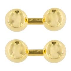Jona 18 Karat Yellow Gold Button Cufflinks