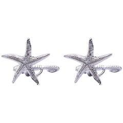 Jona Sterling Silver Seahorse and Starfish Cufflinks