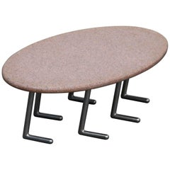 Jonathan Bonner Granite Postmodern Coffee Table, circa 1980, Signed