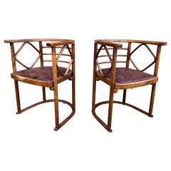 Josef Hoffmann Fledermaus Chairs for J & J Kohn