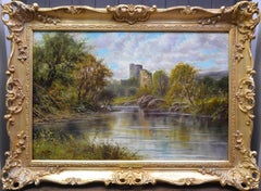 Glengarry Castle - 19th Century Oil Painting of Scottish Highland Loch