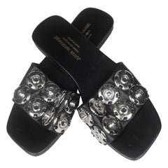 Junya Watanabe CDG Leather Snap Button Sandals