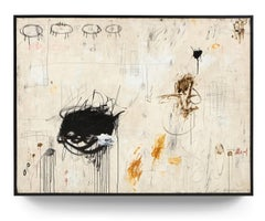 """""""In the Moment"""" Oversized Original Abstract Painting in Earth Tones, 6ft x 8ft"""