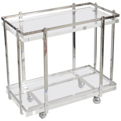 Karl Springer Bar Cart