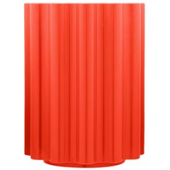 Kartell Colonna Stool in Red by Ettore Sottsass