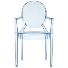 Kartell Lou Lou Children's Ghost Armchair in Sea Blue by Philippe Starck