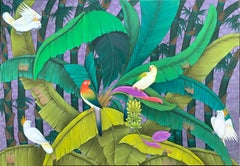 Jungle Antics by Katharina Husslein - Very Large Contemporary Nature Painting
