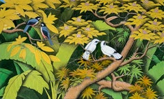 Summer Love by Katharina Husslein contemporary birds and jungle landscape
