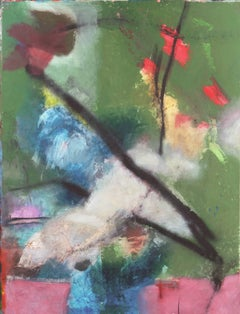 'Abstract in Orchid and Jade', San Francisco Art Institute, Large Bay Area Oil